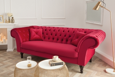 Moebel Koenig Ch Chesterfield Sofa Louise Samt Rot