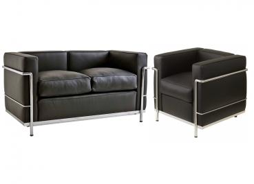 moebel sessel le corbusier lc2 repo. Black Bedroom Furniture Sets. Home Design Ideas