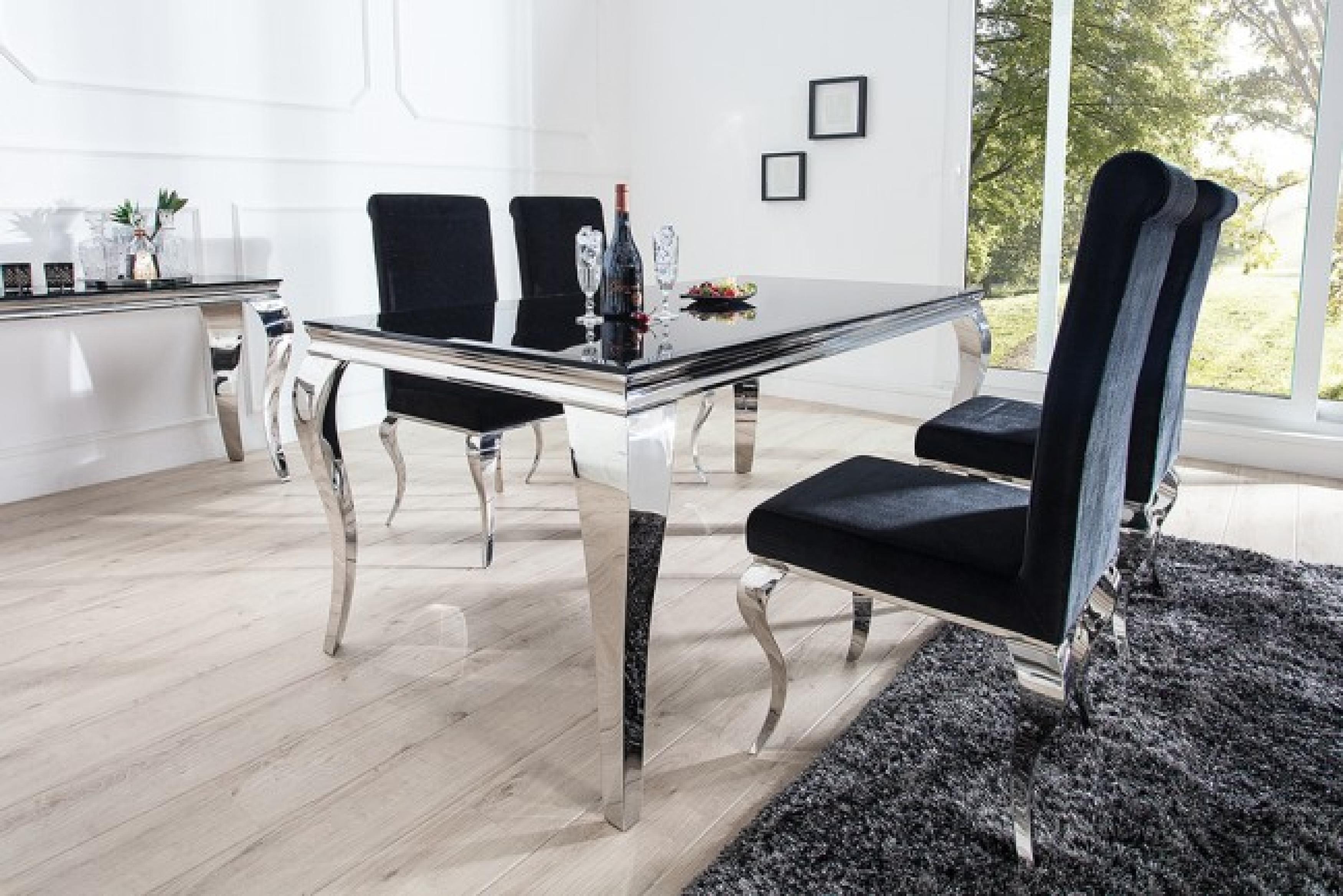 Moebel-Koenig.Ch - Monumentaler Esstisch Modern Barocker Silber 180 Cm