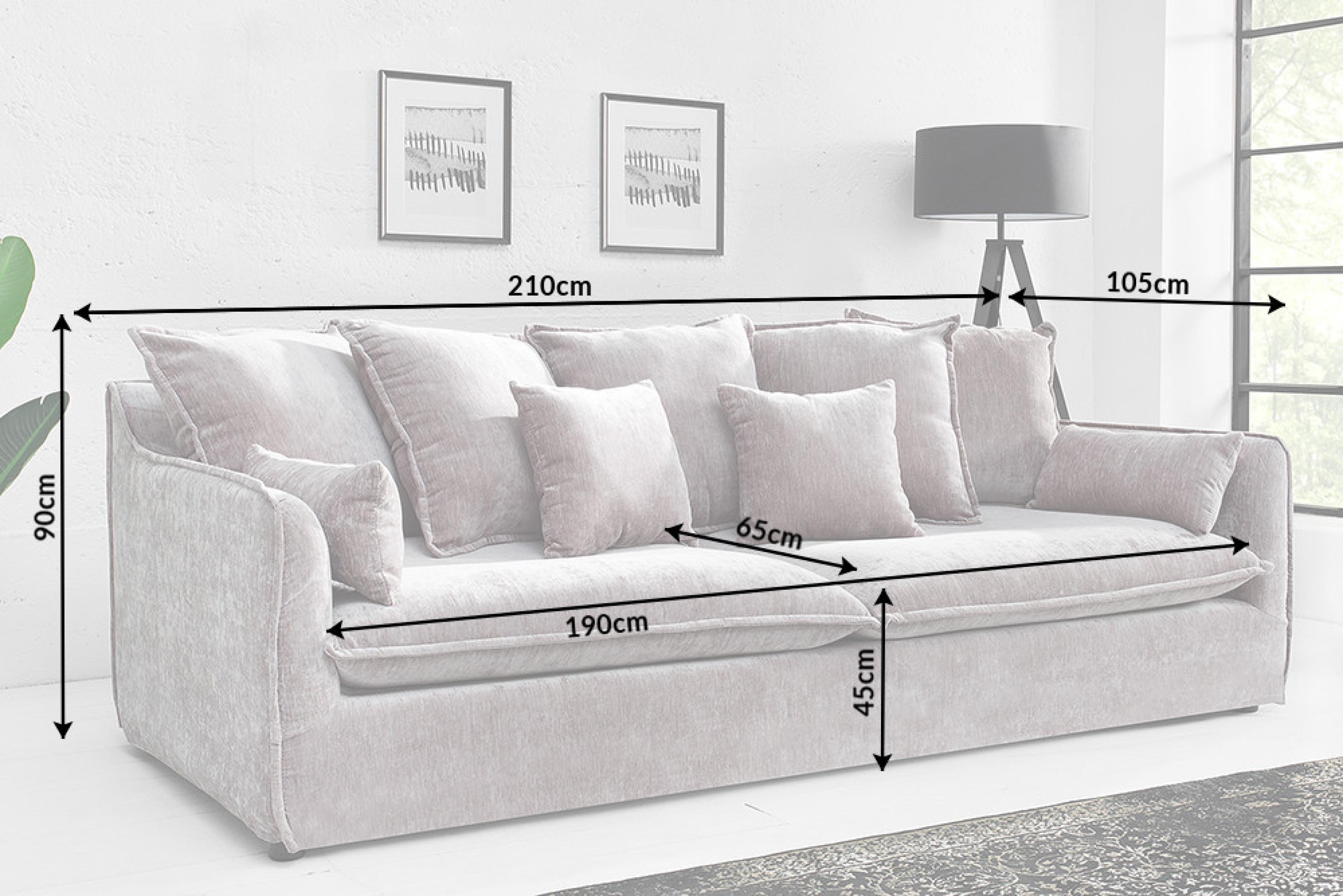 moebel big 3er sofa sky samt taupe. Black Bedroom Furniture Sets. Home Design Ideas